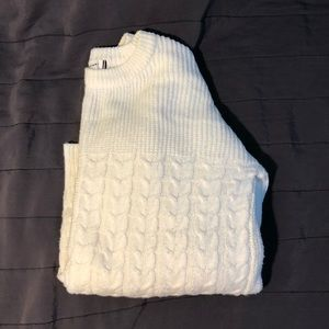 Off White wool knitted sweater